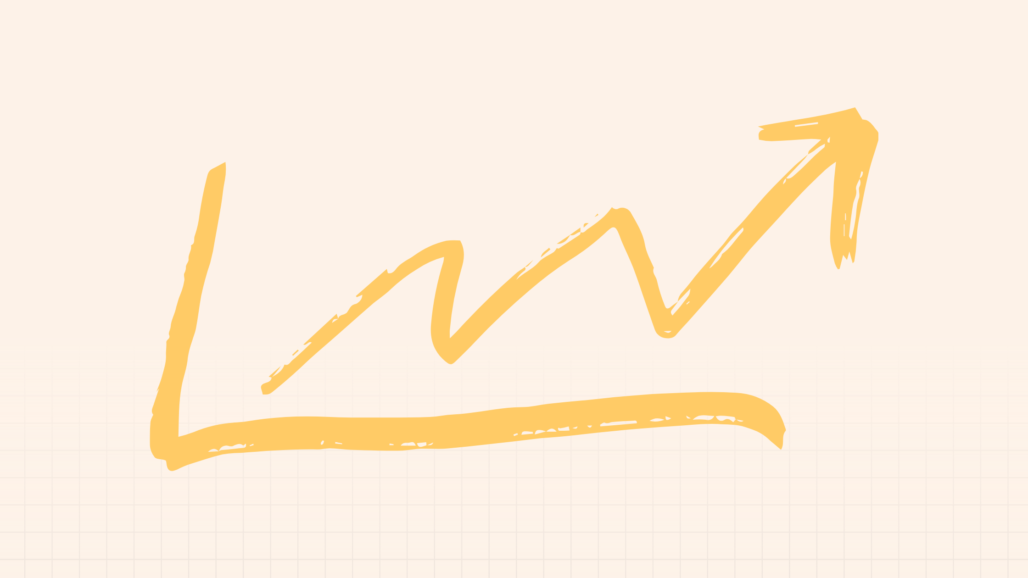 SEO success upward trajectory graphic